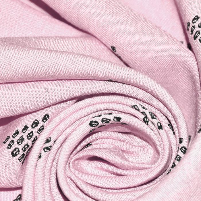 Lan, viskoza, geometrijski, 20390-003, ružičasta