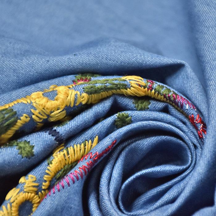 Jeans, tanjši, vezenina, 20393-002