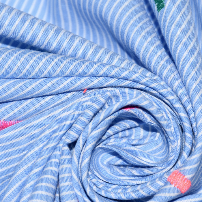 Tkanina, tanjša, vezenina, 20395-001, črte