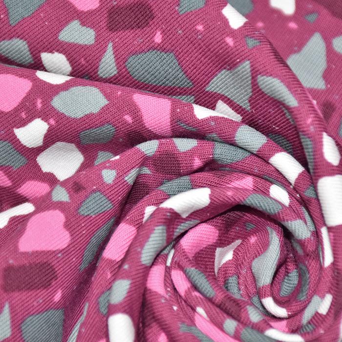 Jersey, pamuk, mozaik, 20518-045, ružičasta