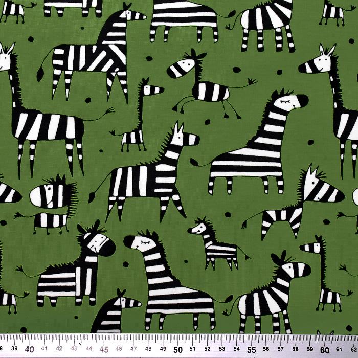 Jersey, bombaž, živalski, 20519-027, temno zelena