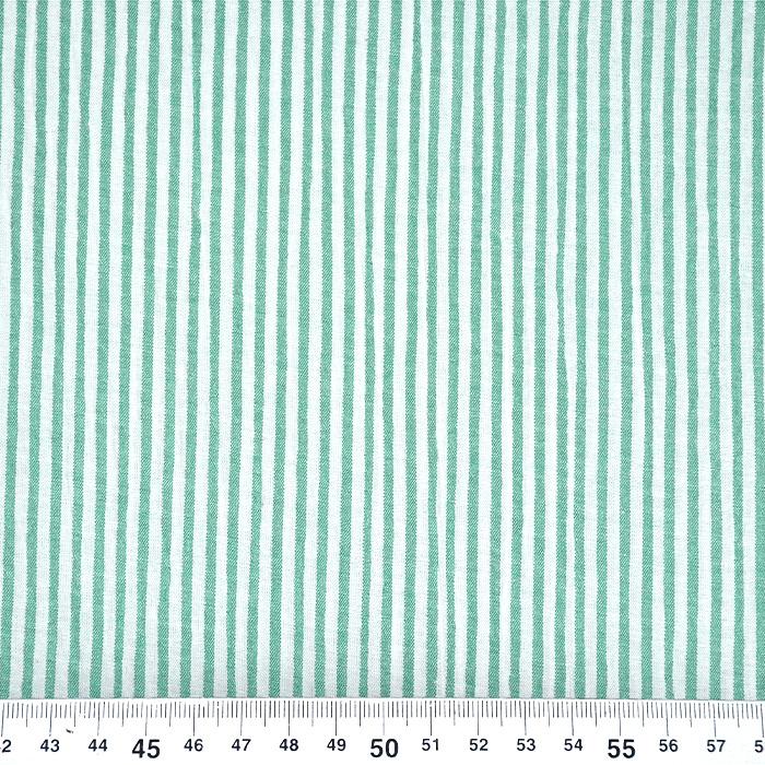 Bombaž, mečkanka, črte, 20533-025, zelena