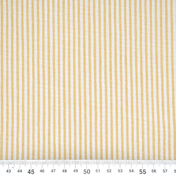 Bombaž, mečkanka, črte, 20533-034, rumena