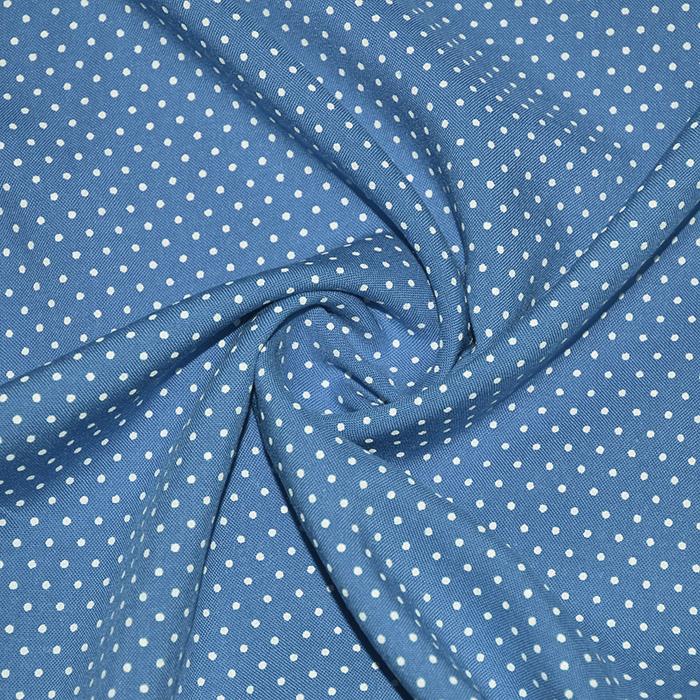 Tkanina, viskoza, pikice, 20534-005, modra