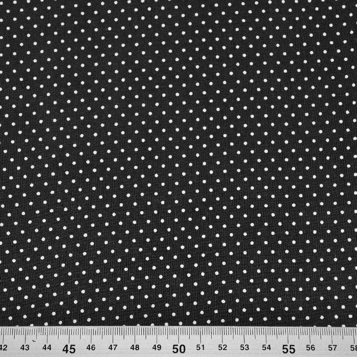 Tkanina, viskoza, pikice, 20534-069, črna