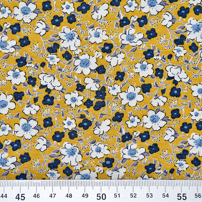 Jersey, viskoza, cvetlični, 20538-034, oker