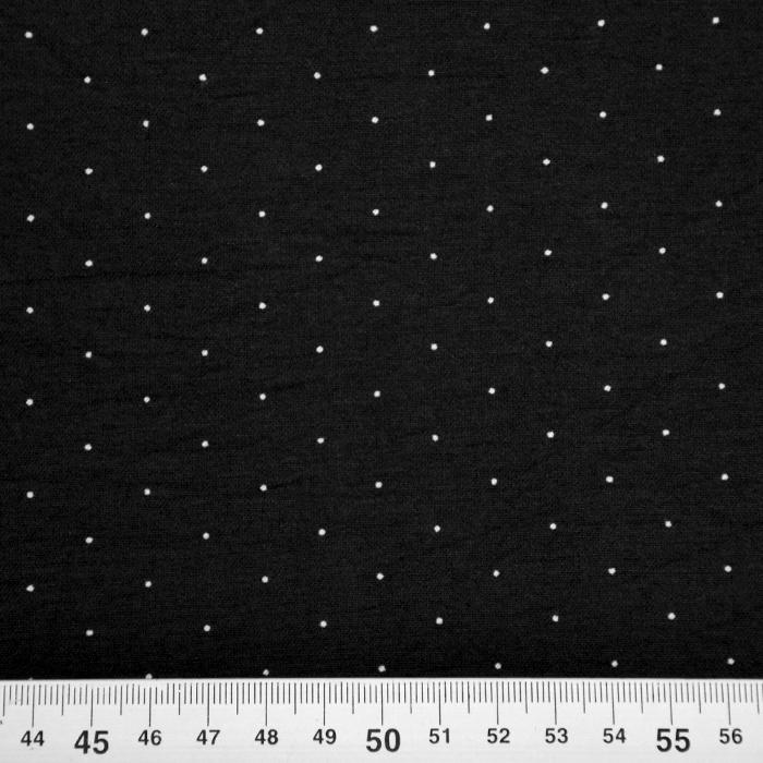 Tkanina, elastična, pikice, 20548-069, črna