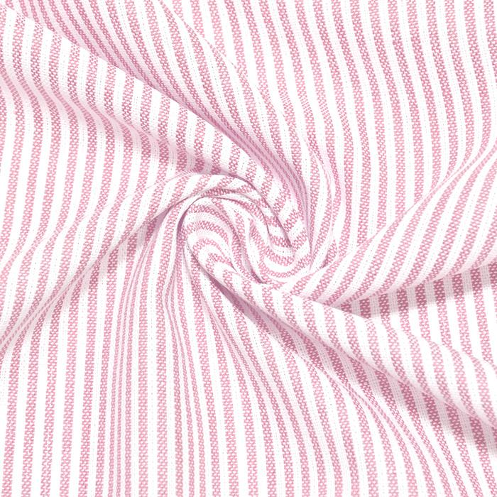 Lan, viskoza, črte, 20555-011, roza