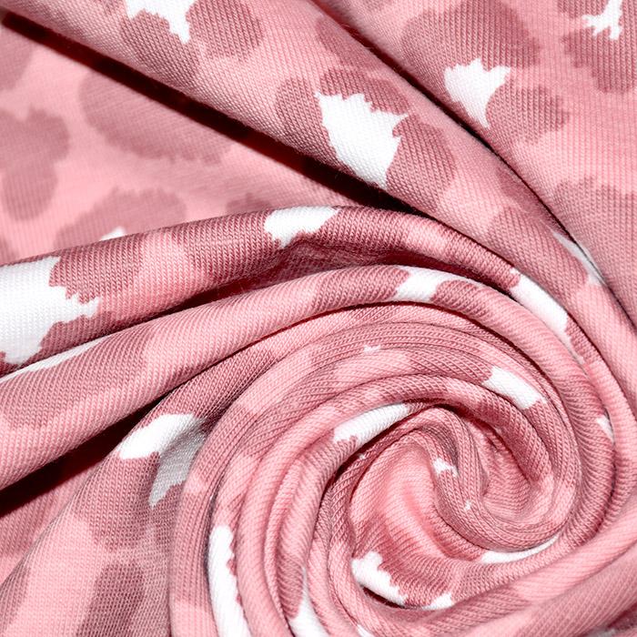 Jersey, pamuk, životinjski, 20599-12, ružičasta