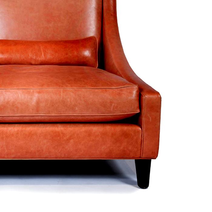 Umetno usnje Orient, 20594-205, oranžna