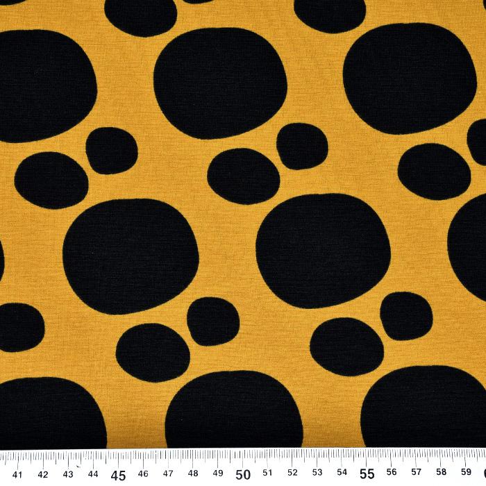 Jersey, bombaž, krogi, 20635-08, oker