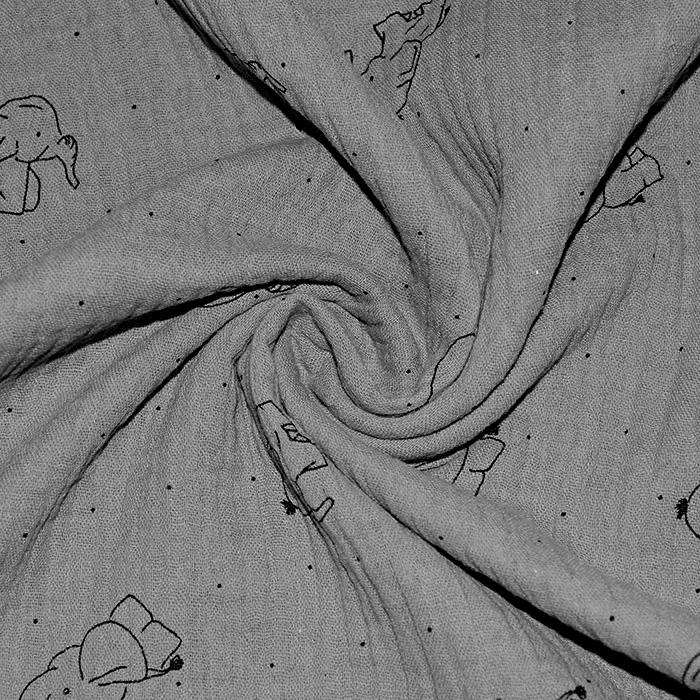 Tetra tkanina, dvojna, živalski, 20675-268, siva
