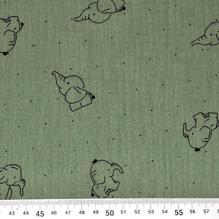Tetra tkanina, dvojna, živalski, 20675-227, zelena