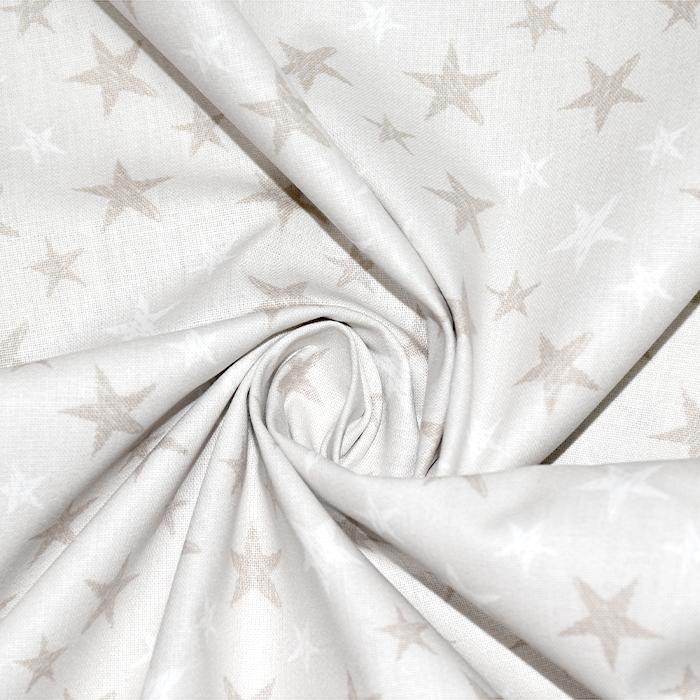 Bombaž, poplin, zvezde, 18279-388