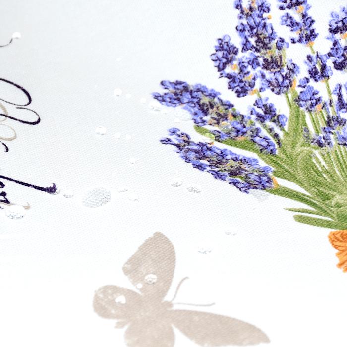 Deko, tisk, impregniran, cvetlični, 20736-1070