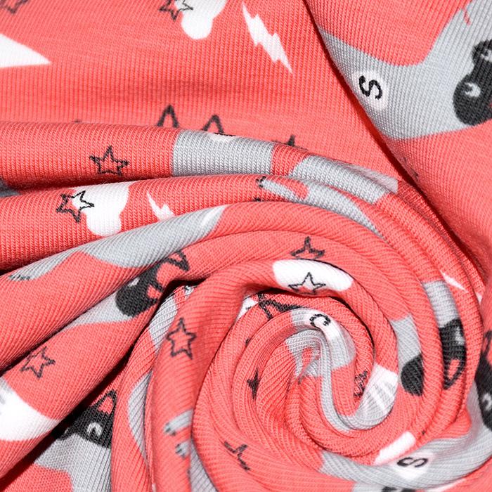 Jersey, pamuk, dječji, 20764-1, crvena
