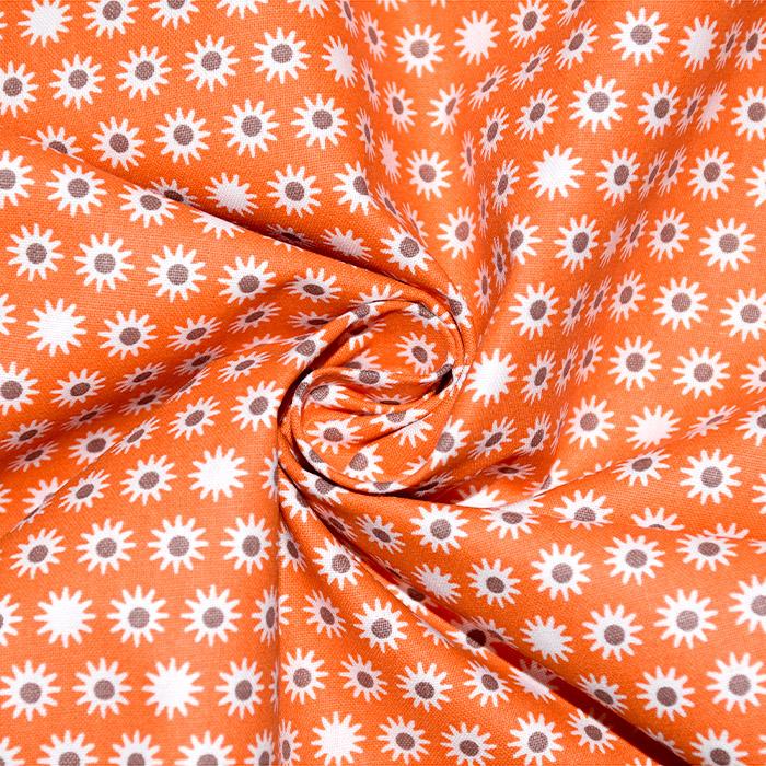 Pamuk, popelin, točke, 20838-3, narančasta