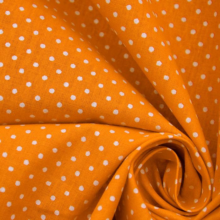 Bombaž, poplin, pike, 20839, oranžna