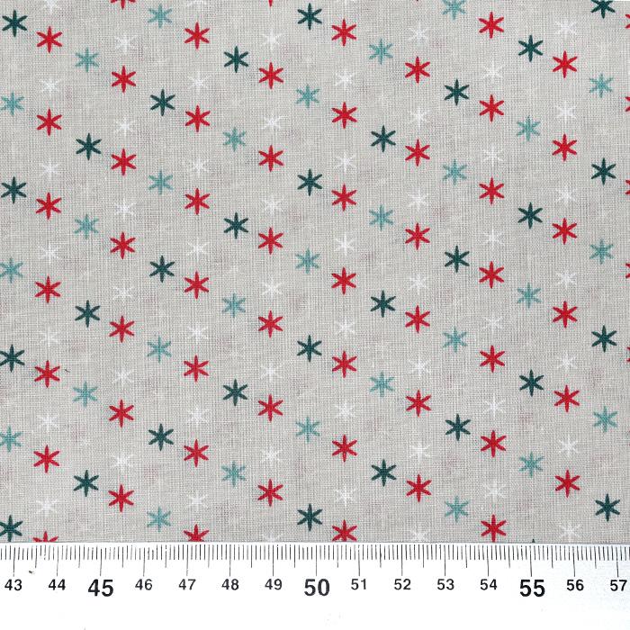 Bombaž, poplin, zvezde, 20801