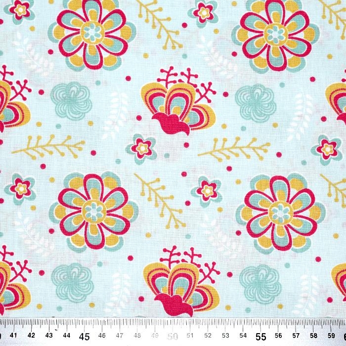 Bombaž, poplin, cvetlični, 20813