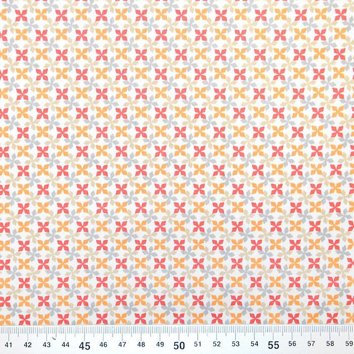 Bombaž, poplin, geometrijski, 20818-3, rdeča
