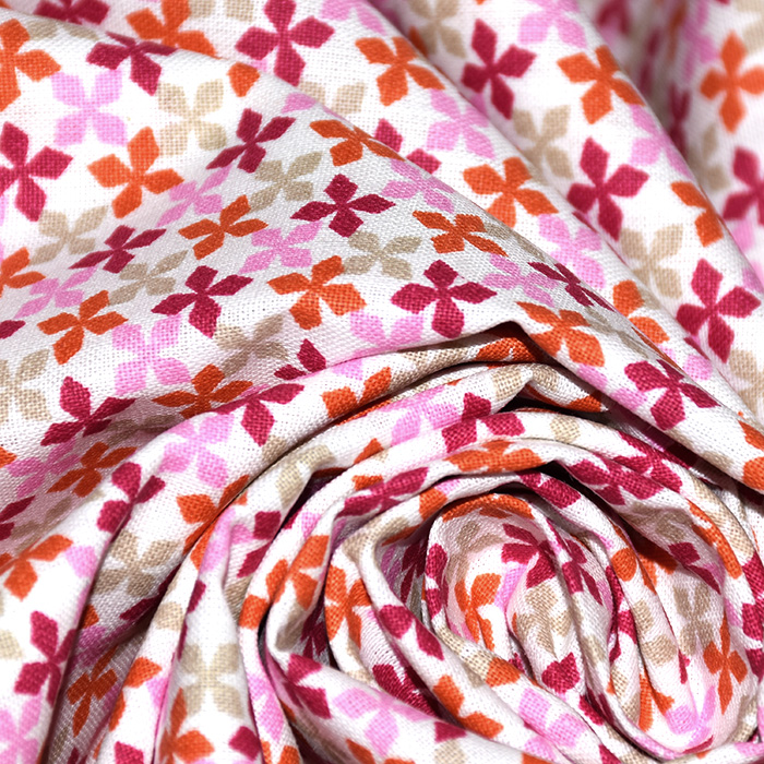 Pamuk, popelin, geometrijski, 20818-4, ružičasta