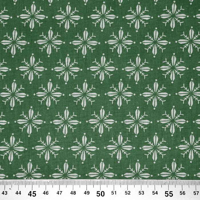 Bombaž, poplin, cvetlični, 20830-2, zelena