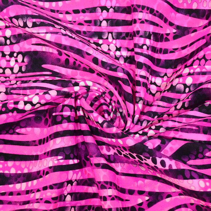 Poliamid, elastan, abstraktni, 20889-0801, roza