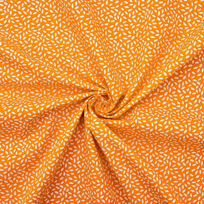 Pamuk, popelin, riža, 20849-2, narančasta