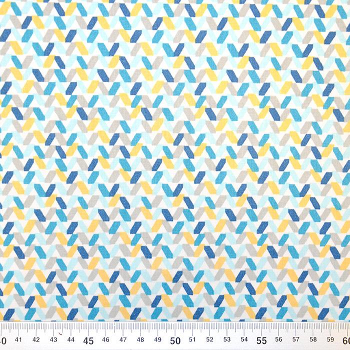 Bombaž, poplin, geometrijski, 20857-1, mint