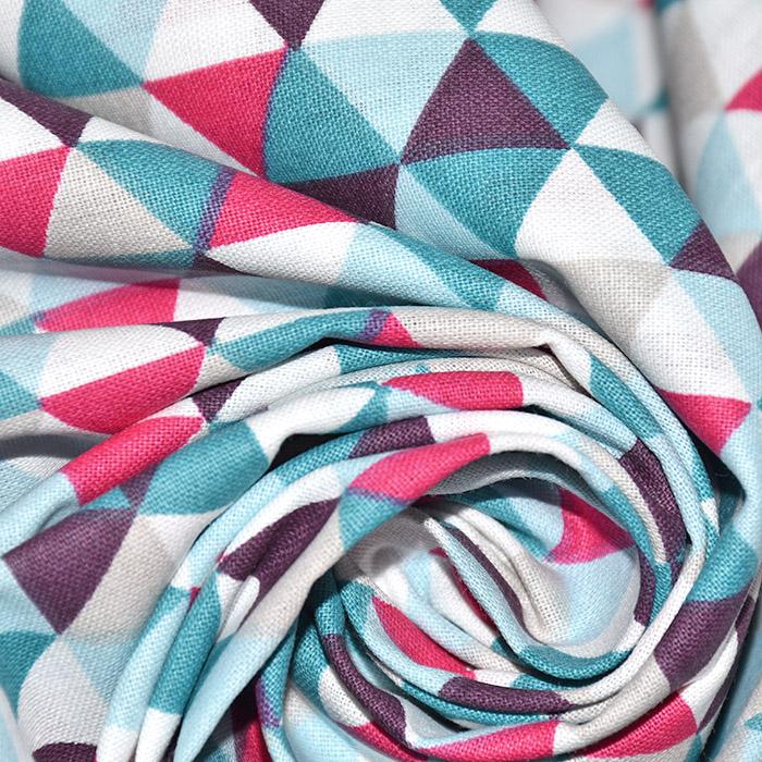 Pamuk, popelin, geometrijski, 20861-1, plava