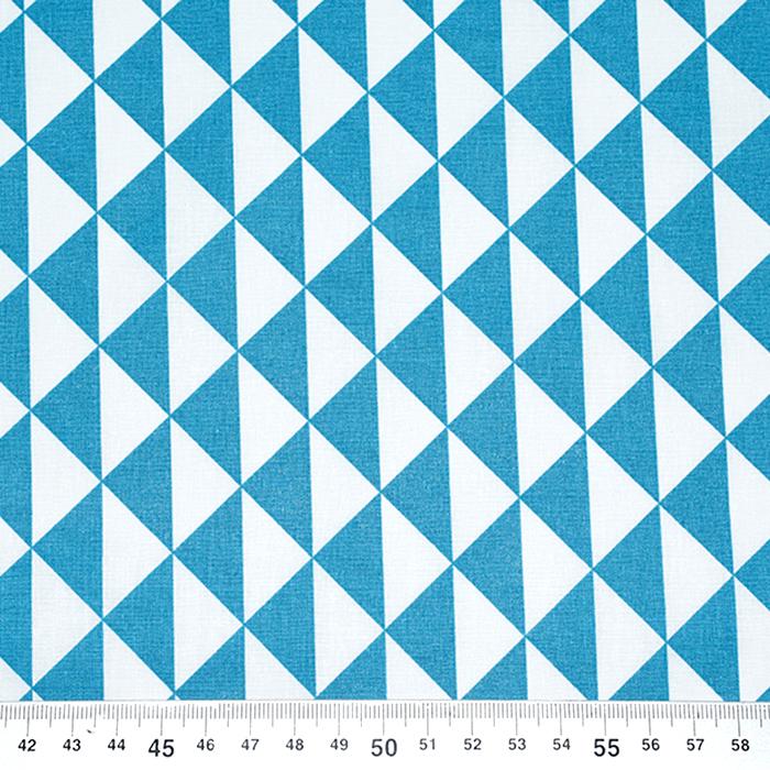 Bombaž, poplin, geometrijski, 20863-9, turkizna