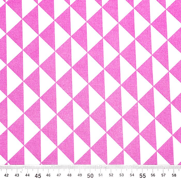 Bombaž, poplin, geometrijski, 20863-10, roza