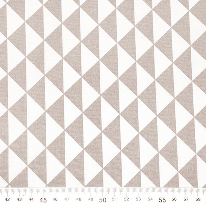 Bombaž, poplin, geometrijski, 20863-11, bež
