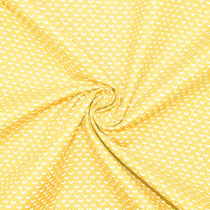 Bombaž, poplin, geometrijski, 20865-1, rumena