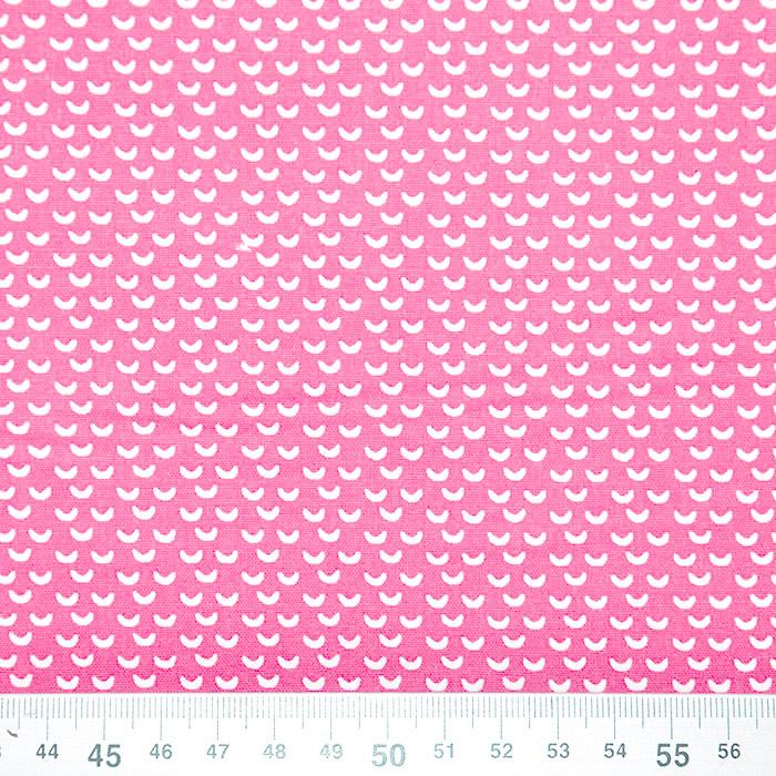 Bombaž, poplin, geometrijski, 20865-3, roza