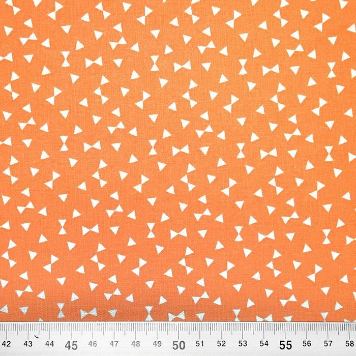 Bombaž, poplin, geometrijski, 20870-2, oranžna
