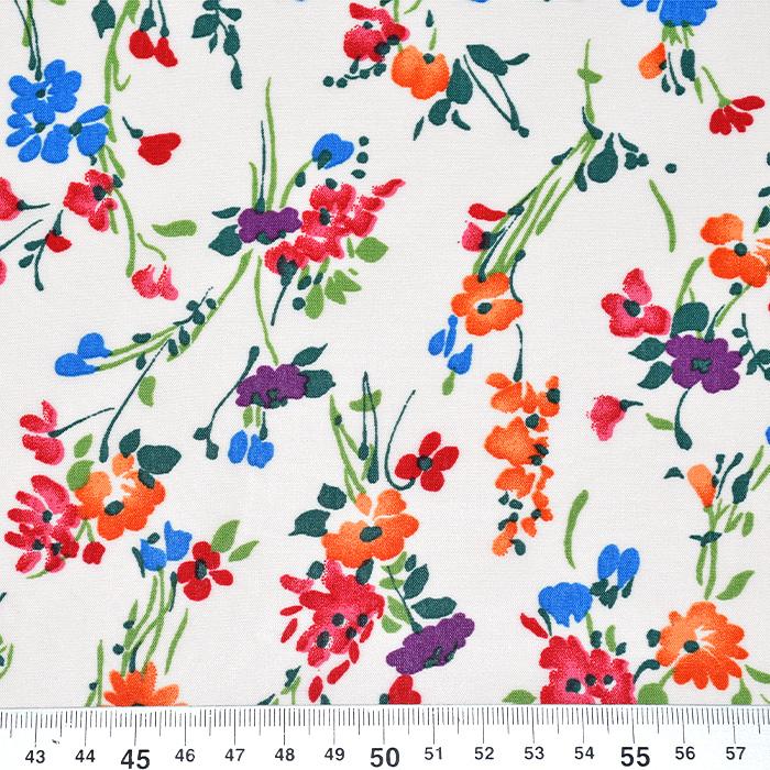 Tkanina, viskoza, cvetlični, 20884-3110