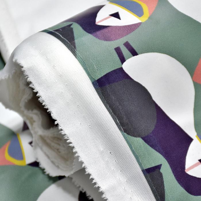 PVC za dežne plašče, živalski, 20983-3001, zelena