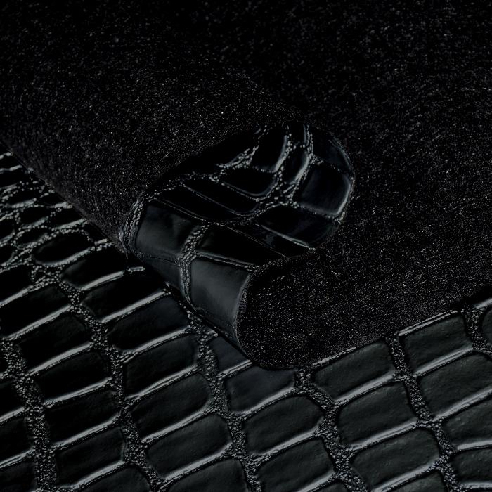 Umetno usnje Krokodil, 20989-2329, črna