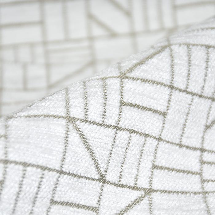 Deko žamet, Stainstop, geometrijski, 21061-15, bela