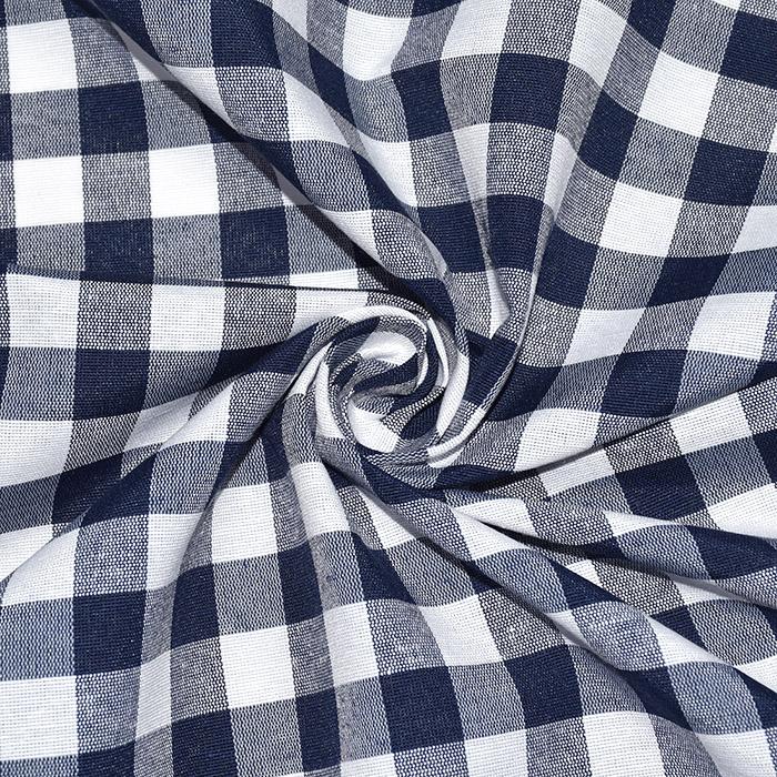 Dekor tkanina, karo, 21032-3, temno modra