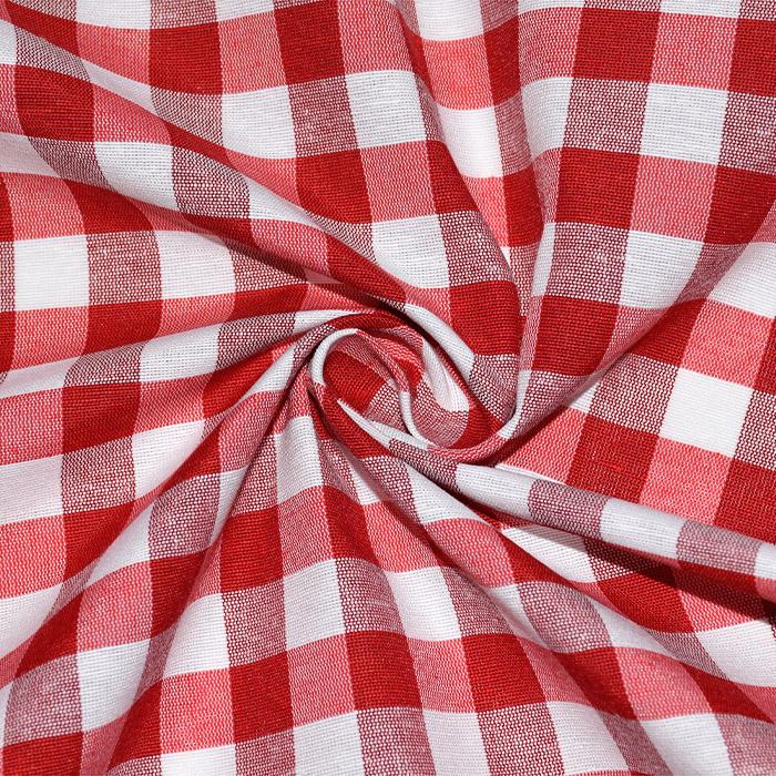 Dekor tkanina, karo, 21032-4, rdeča