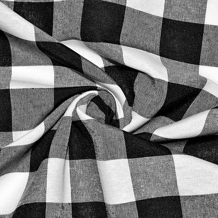 Dekor tkanina, karo, 21033-1, črna