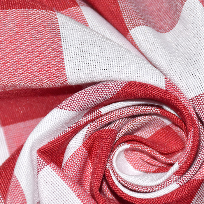 Dekor tkanina, karo, 21033-4, rdeča