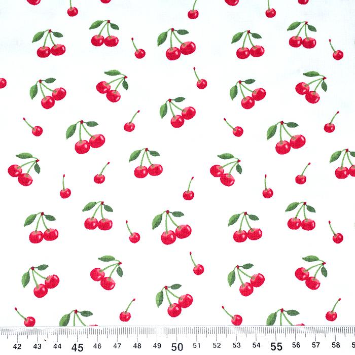 Jersey, bombaž, sadje, 21087-02, bela