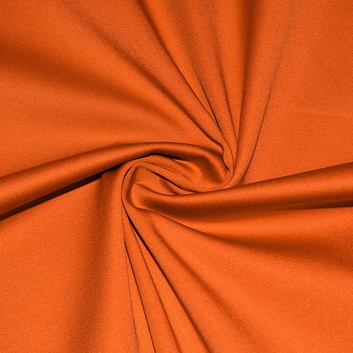 Saten, bombaž, viskoza, 21093-505, oranžna