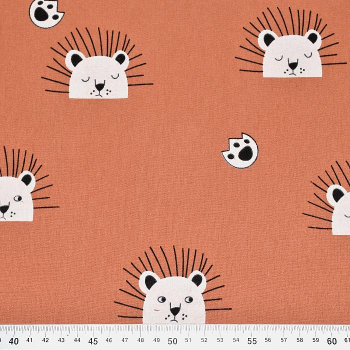 Tkanina, bombaž, živalski, 21117-454, opečna