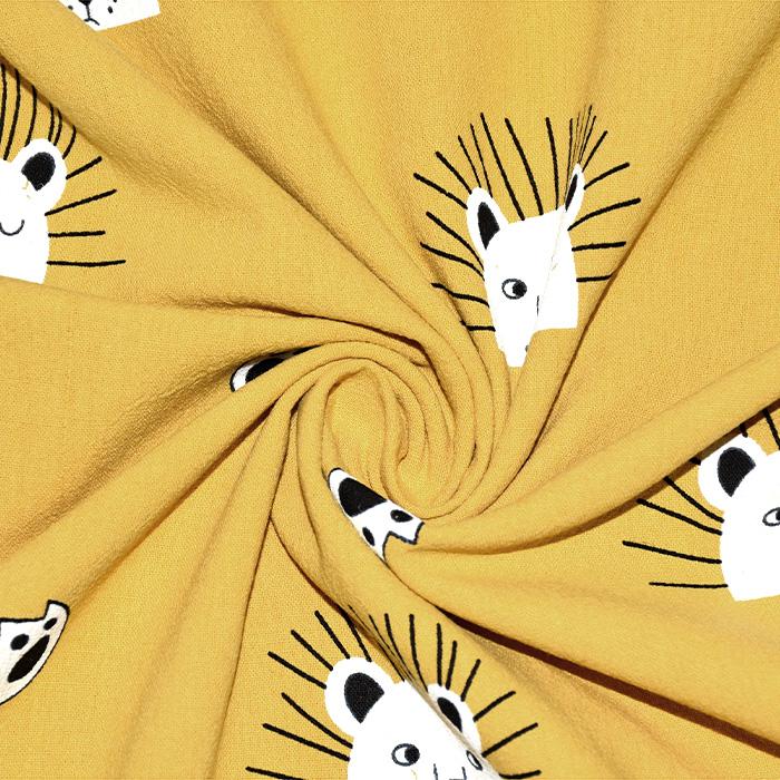Baumwollgewebe, Tiere, 2117-570, gelb