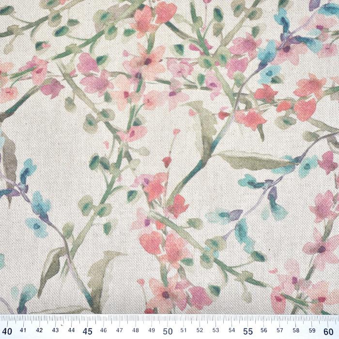Deko, tisk, cvetlični, 21142-1, rdeče modra